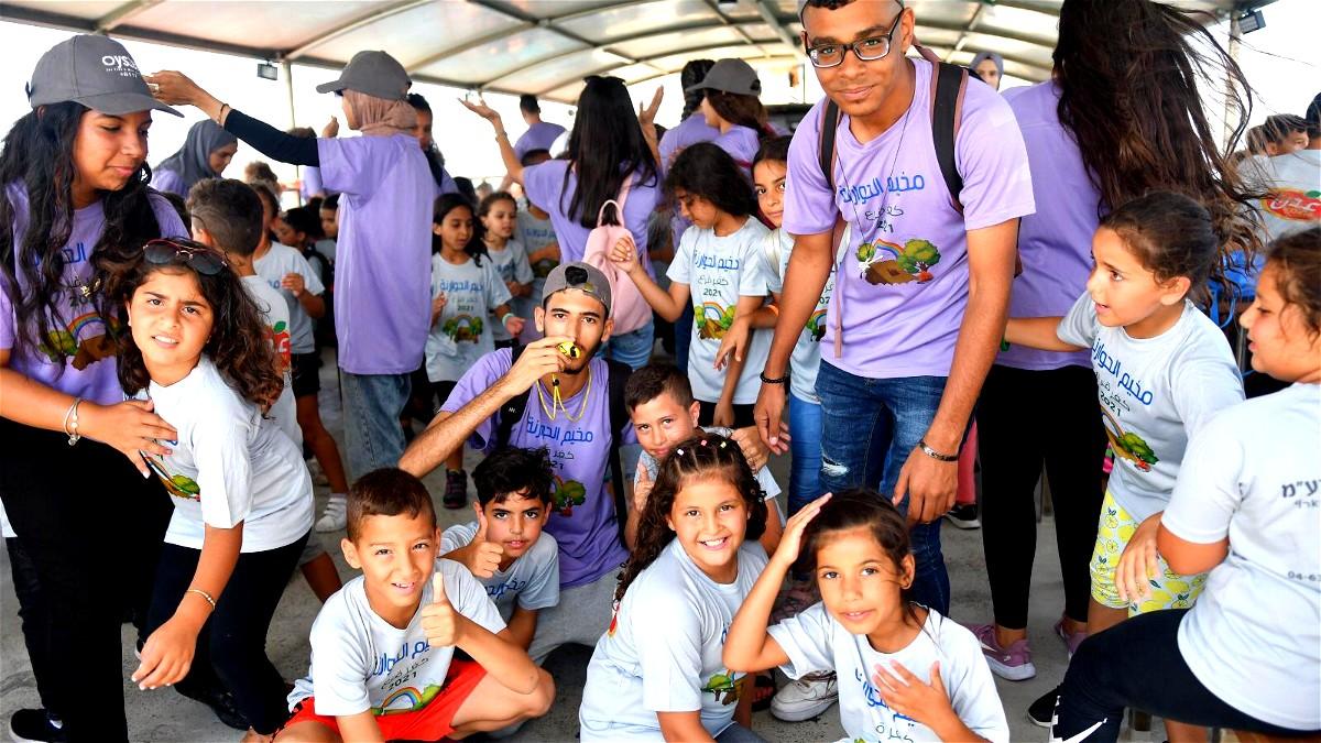 طلاب مخيم الحوارنة- كفرقرع في زيارة لعكا