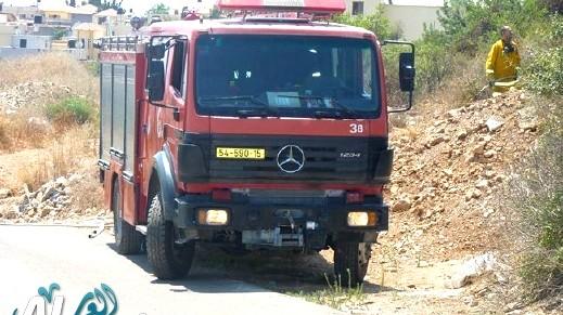 تجدد الحريق في جبال القدس بسبب الرياح