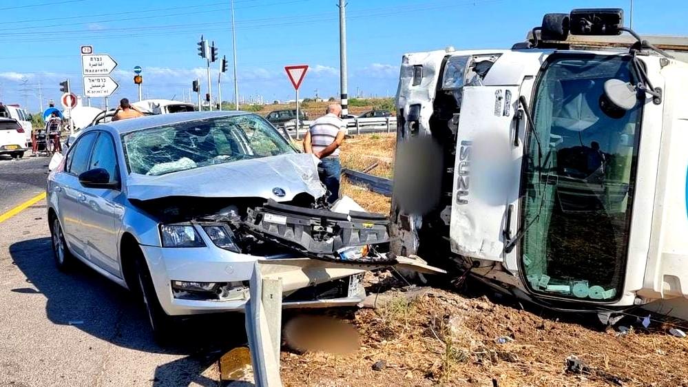 إصابات بحادث طرق عند مفرق حسيديم