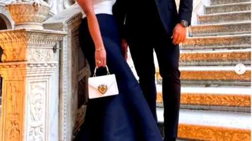 درة تتألق برفقة زوجها في فينيسيا