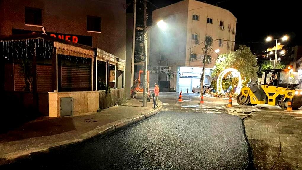 بلدية الناصرة: تعبيد وصيانة شوارع