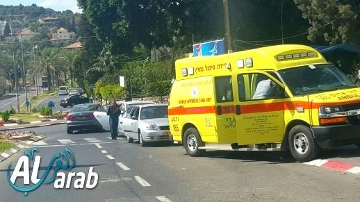 إصابتان إثر انزلاق دراجة نارية على مدخل يانوح