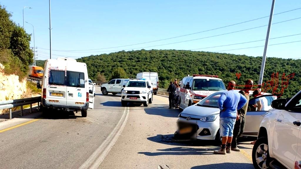 أم الريحان: إصابات إثر حادث طرق