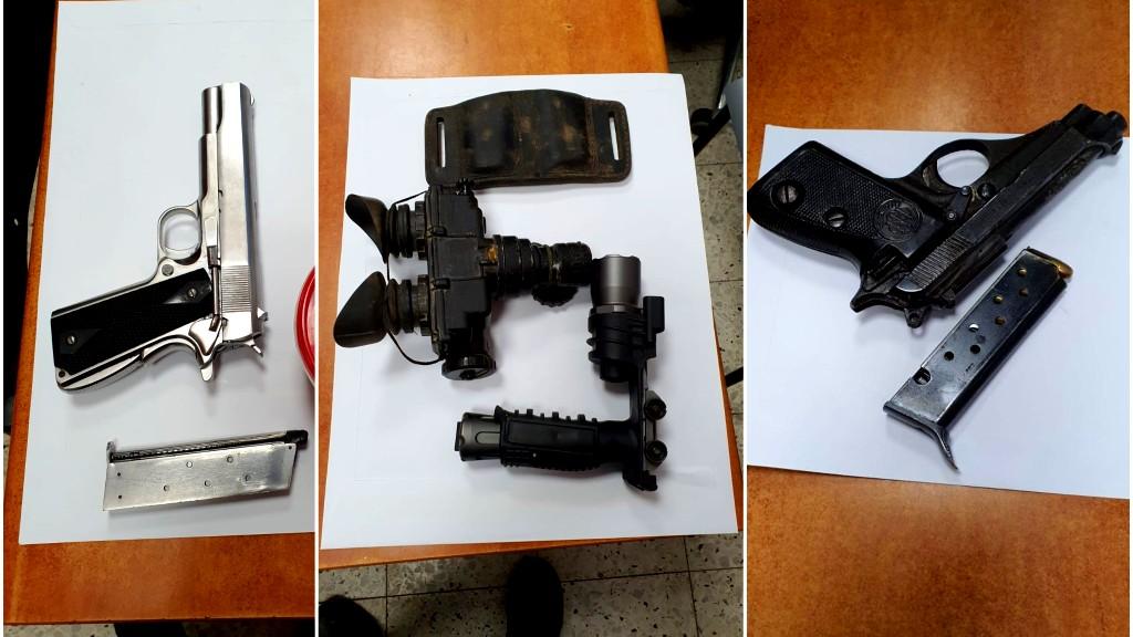 سالم: اعتقال مشتبهين بحيازة أسلحة