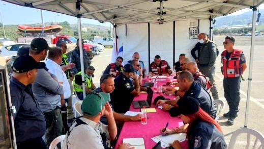 وادي عارة: إجراء تمرين طوارئ يحاكي اندلاع حريق