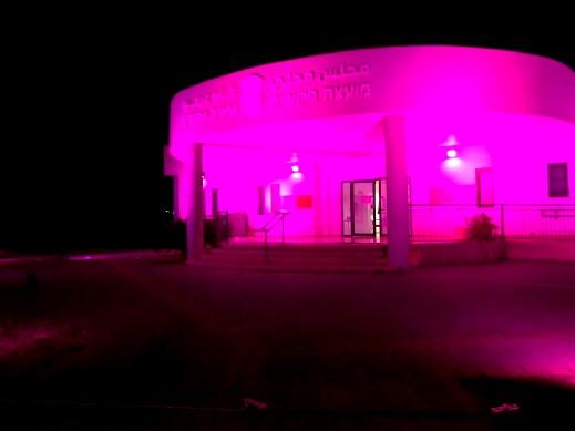 عرعرة: إضاءة المجلس باللون