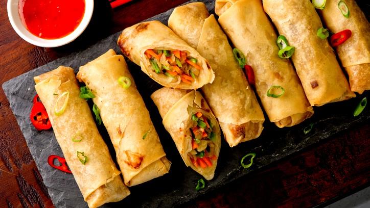 المطبخ الصيني: سبرنج رول بالخضار