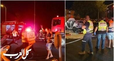 اصابتان خطيرتان بحادث إنفجار مركبة في نهاريا