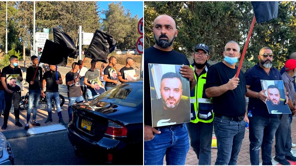 مظاهرة غاضبة أمام مركز شرطة مسجاف