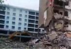 مرعب : خطأ في عمل الورشة أدى الى انهيار مبنى
