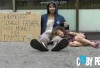من ستساعد اب بلا مأوى ام مدمن كحول بلا مأوى - مؤثر وواقع مؤلم
