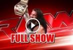 WWE Raw 09/05/16