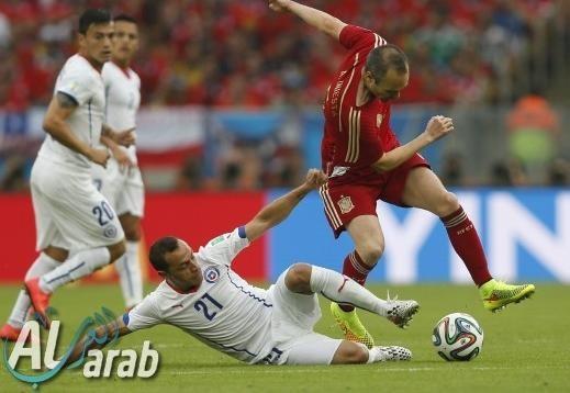 اسبانيا وتشيلي فيديو اهداف 2014