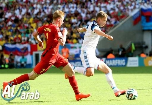 روسيا وبلجيكا 0 - 1 فيديو اهداف