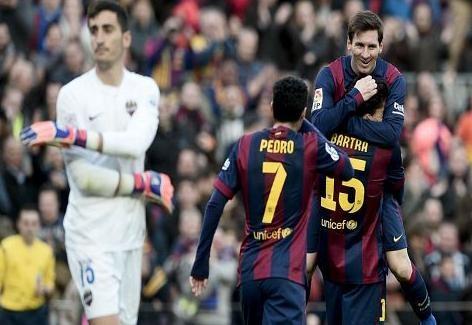 أهداف مباراة ( برشلونة vs ليفانتي ) HD الدوري الأسباني 15-2-15