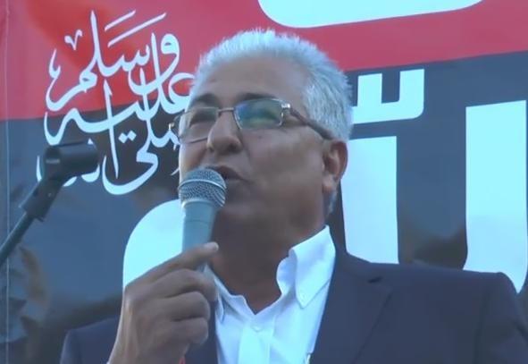 كلمة مازن غنايم في المظاهرة ضد الاساءة للرسول
