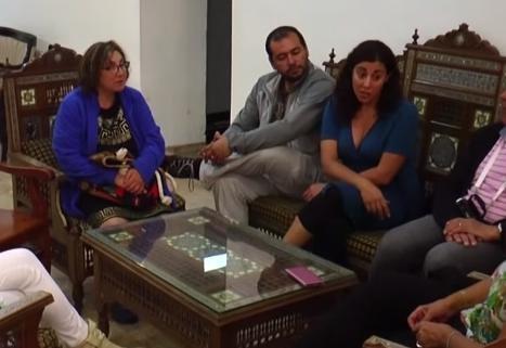 لاجئين فلسطينيين في تشيلي يزورون اقربائهم في البلاد