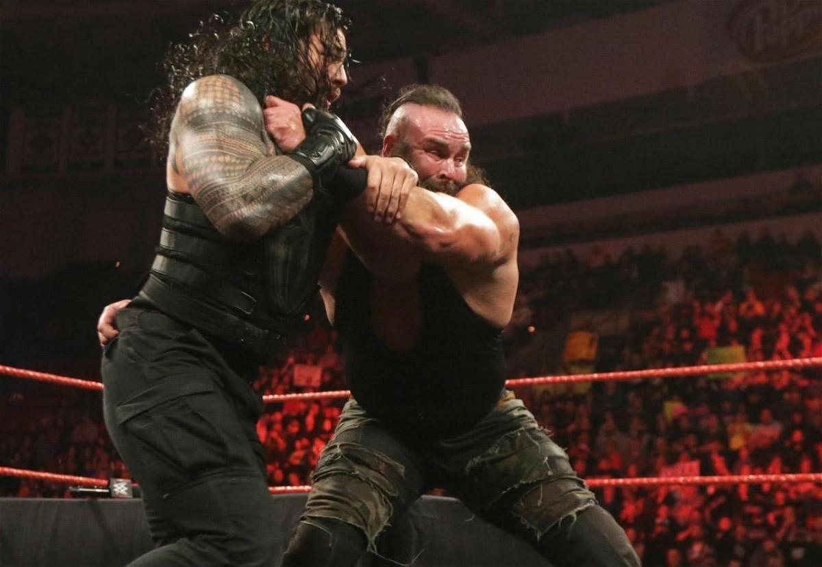مصارعة WWE Raw Feb. 27 مترجمة رومان رينز حسم مصيره لWWE جودة HD
